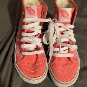 VANS girls pink high tops size 12.5
